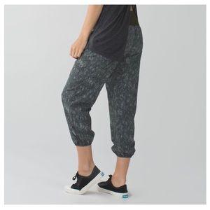 Like-New LULULEMON Green Patterned Om Pants